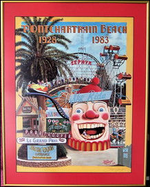 Pontchartrain Beach Collage Poster